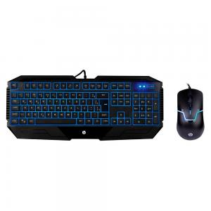 Kit Teclado Gamer LED Azul + Mouse Gamer LED Azul 1600 DPI