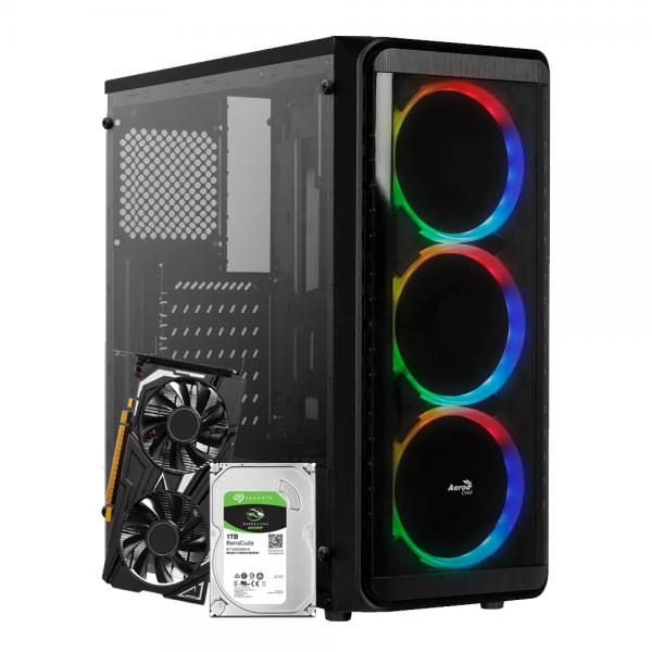 PC AMD Ryzen 5 3600 +  GTX 1650 4GB + 16GB RAM + SSD 240GB